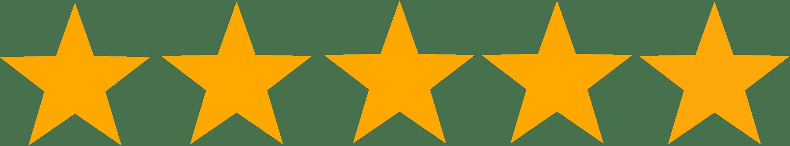 5 stars icon for testimonials